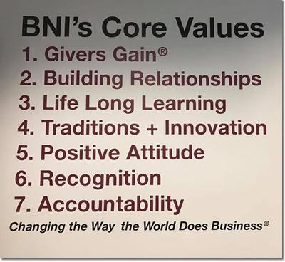 BNI Billings Montana Core Values